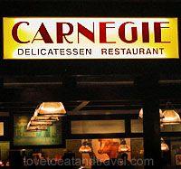 Carnegie Deli - The Mirage - Las Vegas: The best chicken salad bagel sandwich,oh yes & cheesecake