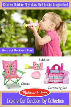Enjoy up to 25% off sitewide. Use Code:  SPRING2016. Offer expires 3/15/16. Melissa & Doug outdoor toys inspire kids' imagination.  From creating a world of bubbles to pretend play with our gardening set – Melissa & Doug toys inspire hours of backyard fun!