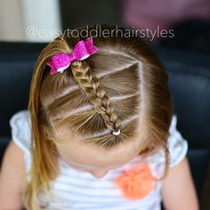 You can make this hairstyle for school or to go places.It's a very cute easy hairstyle