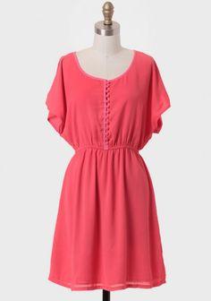 Sydney Sunset Buttoned Dress