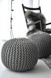 puffs knitted with thread grey Knitted Pouffe, Crochet Pouf, Design Websites, Home And Deco, Home And Living, Interior Inspiration, Home Accessories, Bean Bag Chair, Room Decor