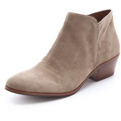 63d87c467fa  130.00 Sam Edelman Petty Suede Booties - Putty Suede Booties