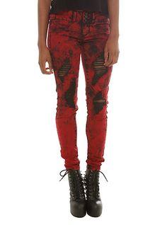 LOVEsick Red Cruella Super Skinny Jeans | Hot Topic