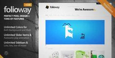Download and review of Folioway - Premium Portfolio WordPress Theme, one of the best Themeforest Creatives themes