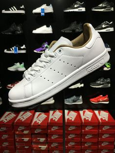 competitive price aae63 b3f36 Cheapest and Newest Adidas Stan Smith BA7673 Unisex 2018 New Casual Shoes  Edifice White blanc Brown. Adidas Stan Smith WhiteOriginal ...