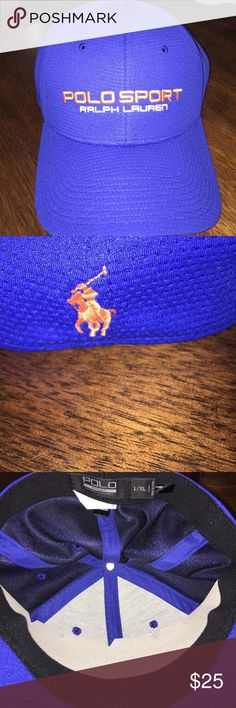 Polo Sport Hat Royal blue with orange embroidery and and pony. BNWT Accessories Hats