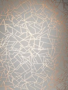 Angles Wallpaper - Copper Rose White | Monument Interiors - http://centophobe.com/angles-wallpaper-copper-rose-white-monument-interiors/ -