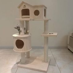 Daeou cat Trees Towers Solid Wood cat Litter cat House cat Furniture Wooden sisal cat Stand Three Layer cat Jumping cat Villa >>> Click image for even more details. (This is an affiliate link). Diy Cat Tree, Cat Trees, Cat Habitat, Jumping Cat, Cat Tree House, Modern Cat Furniture, Cat Plants, Wood Cat, Cat Playground