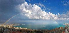 Rainbow over #Jounieh <3 By Rodrigue Zahr  #Lebanon