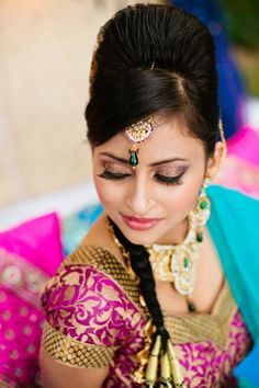 Indian Bridal Makeup and Hair! Check out facebook page for more photos! Wwww.facebook.com/gokalove.makeupartistry