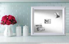 MAGNET BOARDS for Sale Decorative White Framed by RevivedVintage