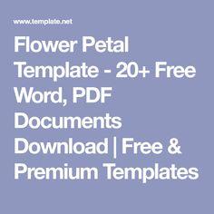 Flower Petal Template - 20+ Free Word, PDF Documents Download | Free & Premium Templates