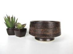 Modernist Japanese Ikebana Vase, Sculptural Modernist Pottery Planter by HerVintageCrush on Etsy