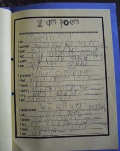 I am Poem~ First Grade Project