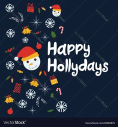 Happy holidays vector background. Brochure template, poster, greeting card. Download a Free Preview or High Quality Adobe Illustrator Ai, EPS, PDF and High Resolution JPEG versions.