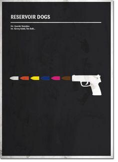 Minimal cinema poster. Reservoir Dogs  www.quimmirabet.com  #graphicdesign  #postercinema