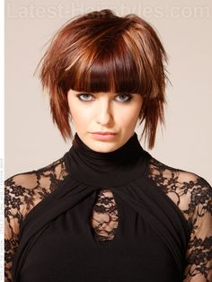 Heavy Bang Hottie Straight Bangs Highlighted Style