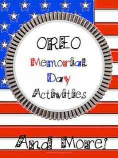 What student doesn't love learning when food is involved? Especially Oreos! Whether you want to have an entire . Memorial Day Activities, Veterans Day Activities, Holiday Activities, Holiday Crafts, Creative Activities, Educational Activities, Classroom Activities, Teaching Activities, Teaching Tools