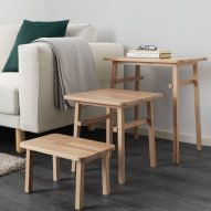 IKEA and Hay reveal full collaborative Ypperlig collection Coffee Table Design, Furniture Makeover, Cool Furniture, Modern Furniture, Furniture Design, Sofa Tables, Table And Chairs, Dining Chairs, Ikea Design