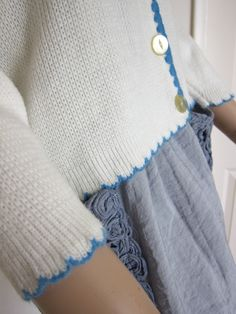 nice way to finished of a knitted cardi or sweater
