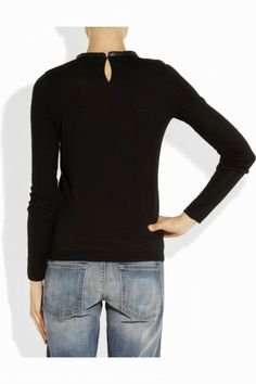 Gorgeous black wool sweater fashion style