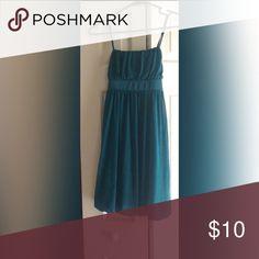 Green Dress Beautiful green dress. Ties in the back. Iz Byer Dresses Mini