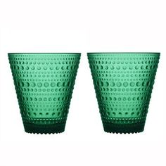 iittala Kastehelmi Emerald Tumblers - Set of 2 The iittala Dewdrop (Kastehelmi) Tumblers are truly elegant. Named Kastehelmi (dewdrop) after the bubbled detailing on the pressed glass, this collection was originally produced from and brou.