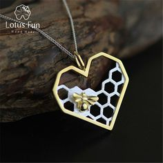 We love it and we know you also love it as well Lotus Fun Real 925 Sterling Silver Handmade Fine Jewelry Honeycomb Home Guard Love Heart Shape Pendant without Chain for Women just only $16.32 with free shipping worldwide  #finejewelry Plese click on picture to see our special price for you