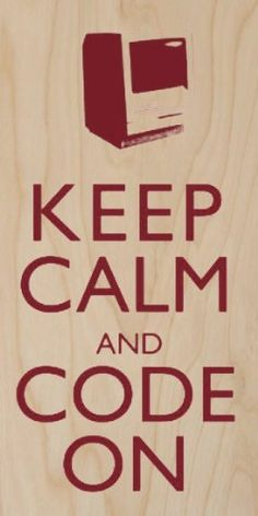 Keep Calm and Code On Old Computer Geek - Plywood Wood Print Poster Wall Art Hat Shark http://www.amazon.com/dp/B00G9N5ILS/ref=cm_sw_r_pi_dp_Zcvaub0Q0E9E3