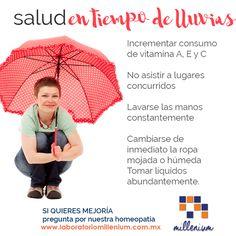 Sabes que ya comenzó la temporada de lluvia y huracanes? Este tiempo requiere especial atención  para el cuidado de nuestra salud.