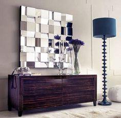 Espelho com Moldura Espelhado e Painel Espelhado | Criado Mudo Espelhado