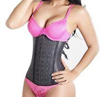 Pink Latex Workout Corset Waist Training Cincher Slimmer Body Shaper for Women Weight Loss Plus SizePinkXL(Fit Waist 31″34″)  Gititlys Women's Sport Latex Steel Boned 3Hooks Workout Waist Cincher.     Color:Black,Blue,Purple,Rose,  10 Sizes:XS, S, M, L, XL, 2XL,3XL, 4XL, 5XL, 6XL  High quality material:100% Natural Latex rubber covering;96% Cotton+4% Spandex Lining  Front and Linning Cotton, Middle Latex  9 spiral felixboning supports,flexible and durable,bend easily but recover quic..