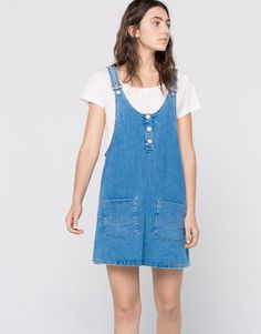 DENIM PINAFORE SKIRT - DRESSES - WOMAN - PULL&BEAR Portugal