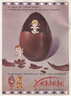 "Vintage Italian Posters ~ #illustrator #Italian #vintage #posters GENERATIONS and ""PICK-UP"" (1961) advertising - FERRERO"