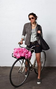 Love the bicycle and the style!
