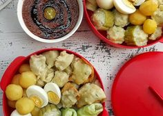 Siomay Snack Recipes, Snacks, Indonesian Food, Potato Salad, Cauliflower, Seafood, Food And Drink, Homemade, Vegetables