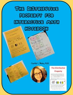 Distributive Property foldable with practice for interactive notebook Equivalent Expressions, Numerical Expression, Distributive Property, Teacher Notebook, 3rd Grade Math, Common Core Math, Graph Paper, Interactive Notebooks, Math Resources