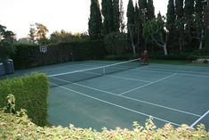 lovely home tennis court