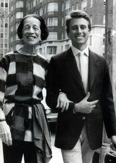 Vreeland with grandson Nicky in NYC, 1980.