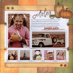 Great layout showcasing the use of background stamps. With a great how to video.