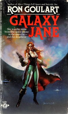 Galaxy Jane by Ron Goulart / Book cover 1986 / 1985 (Boris Vallejo)