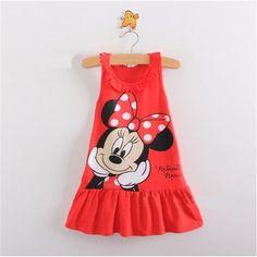 New 2016 summer children clothing girls cartoon dress sleeveless kids clothes girls princess dress size80-100
