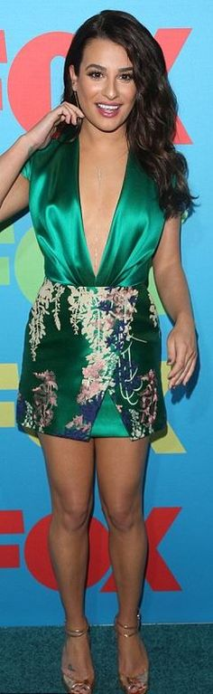 Lea Michele: Dress – Blumarine  Shoes – Brian Atwood