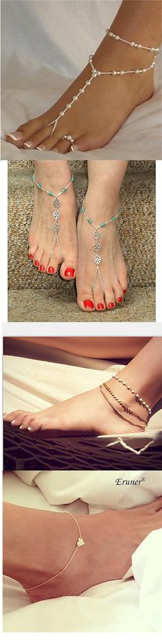 Ankle chain is a perfect jewelry accessory for summer! Check out the choices we have and get those you like most.