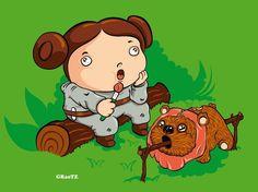FatWars Trilogy by Franck Graetz, via Behance Fast Food Addiction, Pusheen Cat, Princess Leia, Junk Food, Illustration Art, Illustrations, Star Wars, Cartoon, Stars