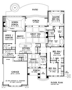 First Floor Plan of The Eliana - House Plan Number 1362