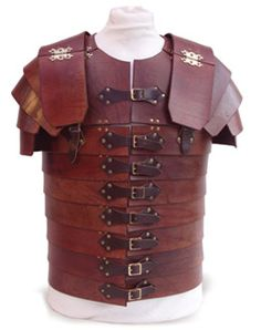 We based ours on the ancient Roman armor called Lorica Segmentata. Description from kilopats.net. I searched for this on bing.com/images