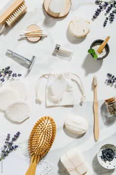 Zero waste products for personal care. by Marc Bordons - Stocksy United Green Living Tips, Clean Beauty, Sustainable Living, Zero Waste, The Unit, Personal Care, Eco Friendly Cars, Sustainability, Minimalism