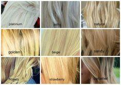 Blonde Color Chart