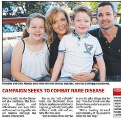 "Sanfilippo Children's Foundation SPREADING HOPE... Thank you to the Morrice family in Ferny Hills Queensland for bravely sharing their Sanfilippo story. You can read about the Hope for Alec campaign in today's 'Northside Chronicle'. The headline says it all: ""Family rallying to help Alec"". Alec has Sanfilippo Type C. #hopeforalec #peoplepoweredmedicine #togetherwearestronger by sfcfoundtn"